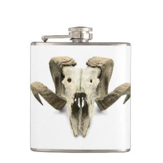 Flasques Homme plat avec les crânes d'un mouton