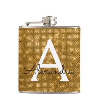Flasques Initiale à la mode de monogramme d'étincelle d'or