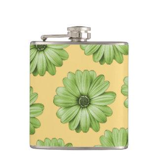 Flasques Jaune et impression florale tropicale vert clair