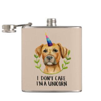 """Flasques """"Je suis illustration de chien de pitbull D'UNE"""