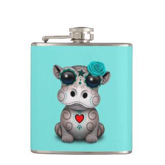 Flasques Jour bleu de l'hippopotame mort de bébé