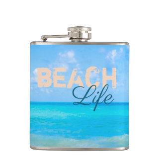 Flasques La vie de plage. Paradis tropical régénérateur de