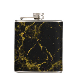 Flasques le noir chic moderne élégant élégant et l'or