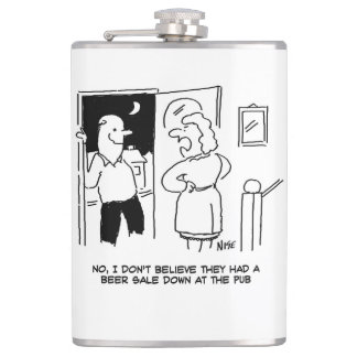 """Flasques L'épouse ne croit pas que le Pub a eu une """"vente"""