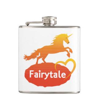 Flasques Licorne de conte de fées avec amour