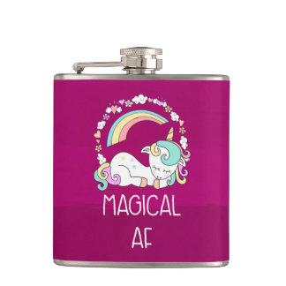 Flasques Licorne drôle indiquant l'AF magique