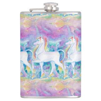 Flasques Licornes d'aquarelle