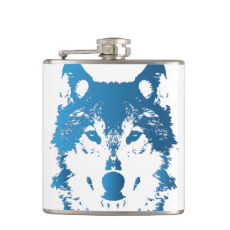 Flasques Loup de bleu glacier d'illustration