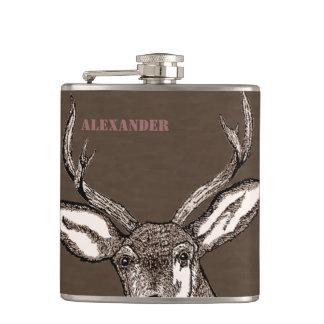 Flasques Mâle de chasseur de cerfs communs personnalisé