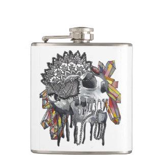Flasques Mandala en cristal de crâne