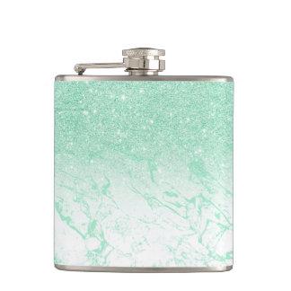 Flasques Marbre en bon état moderne de turquoise de menthe