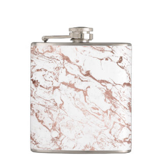 Flasques Marbre rose de blanc d'or de faux chic moderne