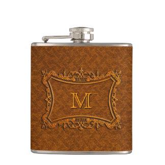 Flasques Monogramme en cuir personnalisable