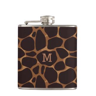 Flasques Motif abstrait de cuivre de léopard de Brown