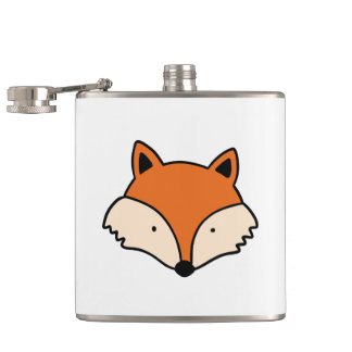 Flasques Motif de Fox