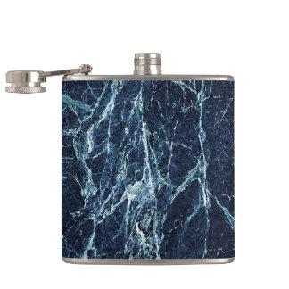 Flasques Motif de marbre moderne bleu