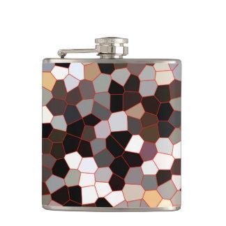 Flasques Motif en verre souillé