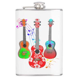 Flasques Musique tropicale de joueur d'ukulélé d'île