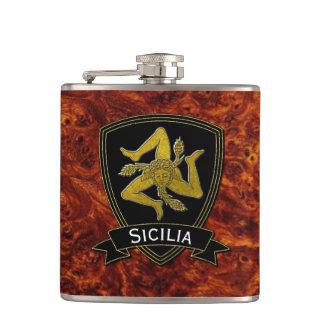 Flasques Noir sicilien et or de Trinacria
