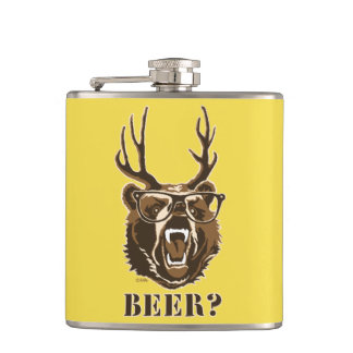 Flasques Ours, cerfs communs ou bière