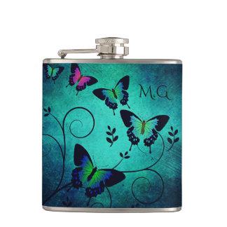 Flasques Papillons fleuris de bijou