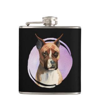 Flasques Peinture d'aquarelle de chien de boxeur