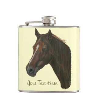 Flasques Peinture équine d'art de portrait de cheval de