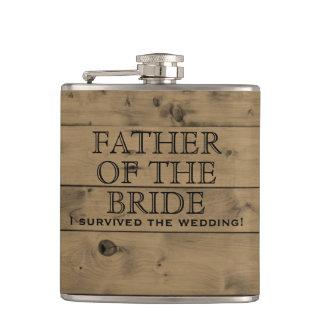 Flasques Père en bois rustique du mariage campagnard | de