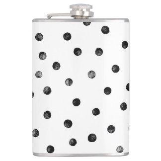 Flasques Points noirs et blancs de confettis