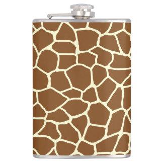 Flasques Poster de animal sauvage de motif de girafe