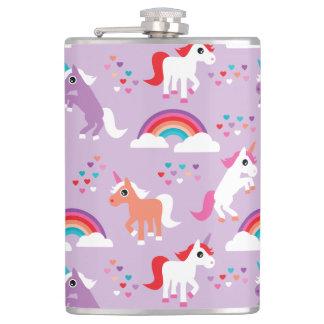 Flasques Pourpre mignon d'arc-en-ciel de licorne