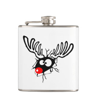 Flasques Rudolph drôle mignon la bande dessinée flairée