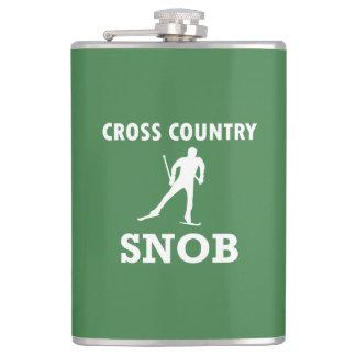 Flasques Snob de ski de pays croisé (logo blanc)