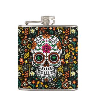 Flasques Sucre mignon coloré Skul et rétros fleurs