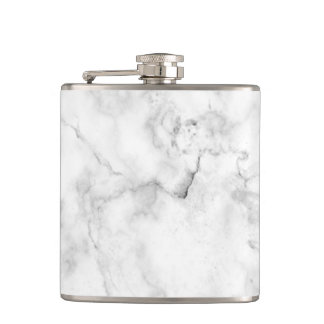 Flasques Texture blanche et grise élégante de marbre de
