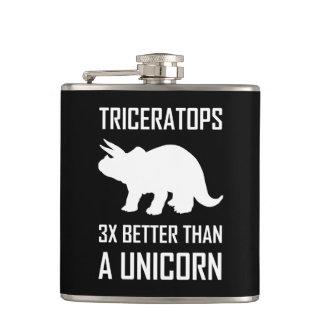 Flasques Triceratops meilleur que la licorne