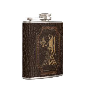 Flasques Vierge simili cuir