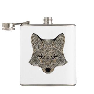 Flasques Visage métallique de Fox