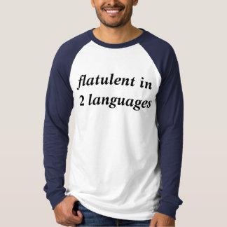 flatulent dans 2 langues t-shirt