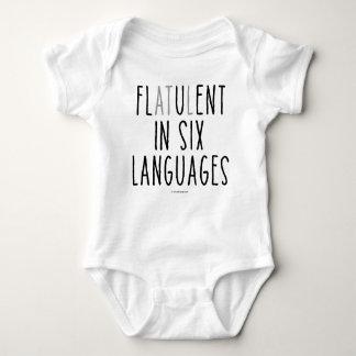 Flatulent dans six langues body
