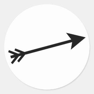 Flèche 15deg noir Le MUSÉE Zazzle Sticker Rond