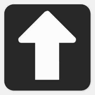 Flèche blanche sticker carré