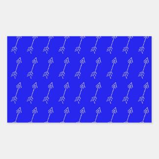 Flèche blanche sticker rectangulaire
