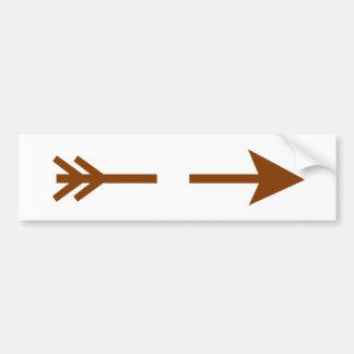 Flèche Brown cassé le MUSÉE Zazzle Autocollant Pour Voiture