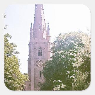 Flèche d église autocollant carré