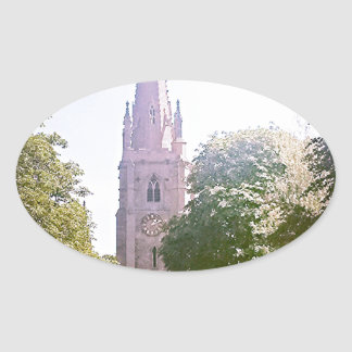 Flèche d église sticker ovale