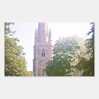 Flèche d église autocollants rectangulaires