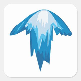 Flèche de glace sticker carré
