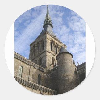 Flèche de St Michel de Mont Sticker Rond