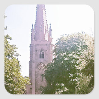 Flèche d'église autocollant carré